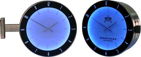 relojes analogicos azul