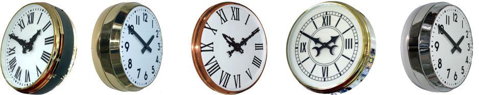 relojes analogicos diferentes acabados