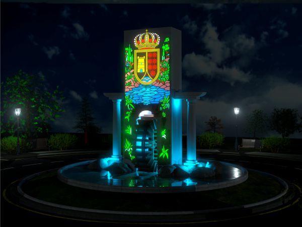 Monumento iluminado