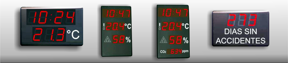 relojes digitales diversas indicaciones
