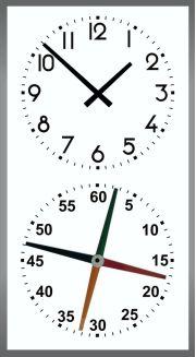 reloj piscina cuatro agujas