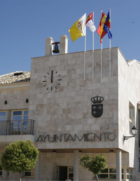 Reloj con escudo y letreo Ciruelos (Toledo)